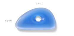 Xiem Rigid Plastic Clay Rib 2 - Blue (PCR2)