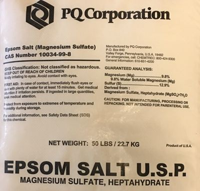 Magnesium Sulphate - 1 lb.