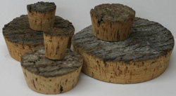 Cork -  Bark Top - 1-1/4""