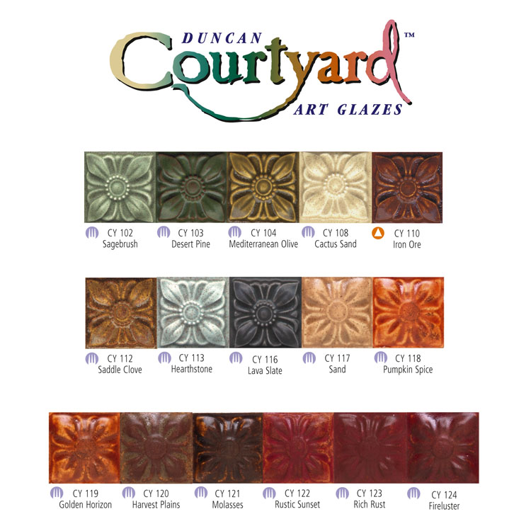 Duncan Courtyard Glaze - CY-119 - Golden Horizon -  4 fluid oz.