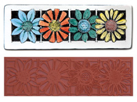Mayco Designer Stamp - ST-111 - Four Flowers