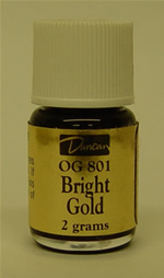 Duncan  Bright Gold Overglaze OG-801 - 2 grams - liquid